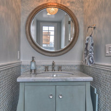 traditional powder room by LuAnn Development, Inc.