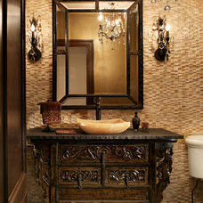 Traditional Powder Room by PAUL ROMANO / Romano & Son