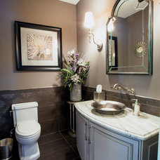 Traditional Powder Room by M.J. Whelan Construction