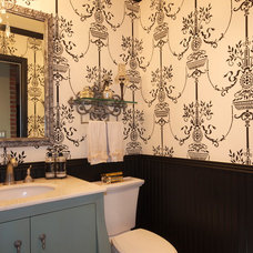 Traditional Powder Room by France Lavin Design