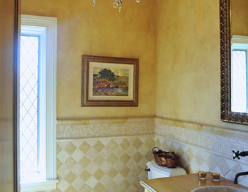 French Country Style Powder Room