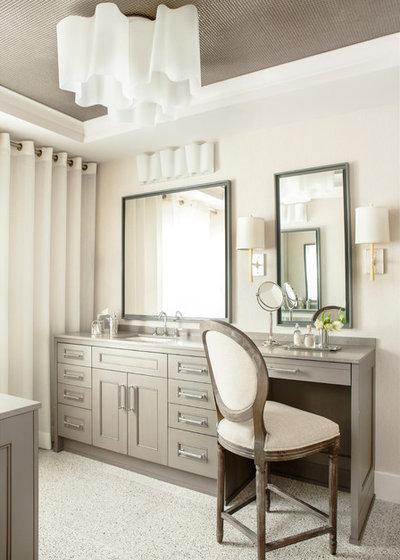 Contemporary Powder Room by Mark Williams Design Associates