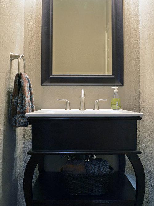 Modern powder room design ideas renovations photos with for Modern powder room design