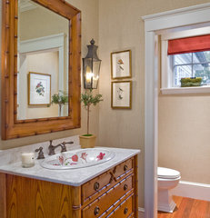 traditional powder room by Siemasko + Verbridge