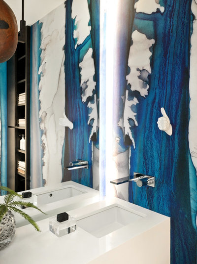 Contemporary Powder Room by PROjECT interiors + Aimee Wertepny