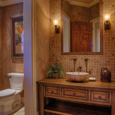 Traditional Powder Room by Gabriel Builders Inc.