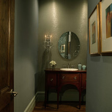 Traditional Powder Room by Rabaut Design Associates, Inc.