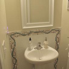 Tropical Powder Room by Art Mosaics of the Carolinas, LLC
