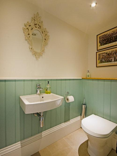 g stetoilette g ste wc im landhausstil london ideen f r g stebad und g ste wc design houzz. Black Bedroom Furniture Sets. Home Design Ideas