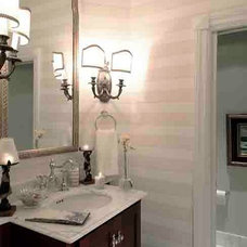 Beach Style Powder Room by Canthus LLC