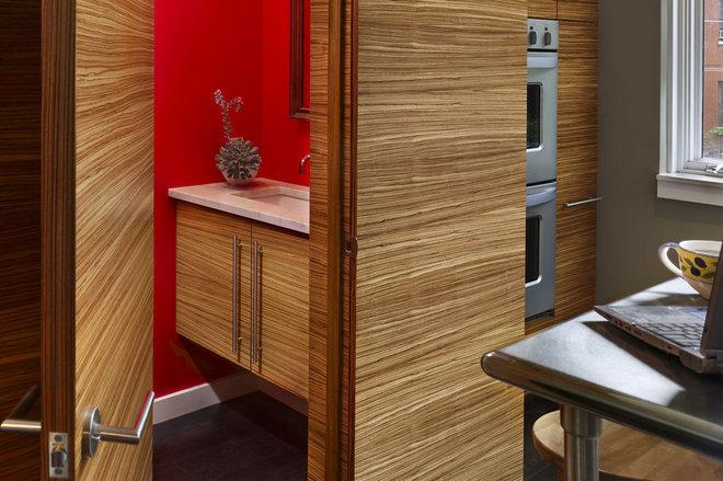 Modern Powder Room by Brett Webber Architects, PC