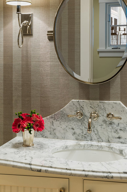Traditional Powder Room by JMS Architecture LLC