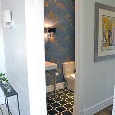 Modern Powder Room by B.Design