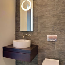 contemporary powder room by tuthill architecture
