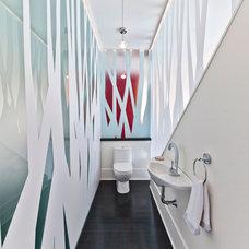 Contemporary Powder Room by Kariouk Associates