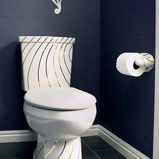 Photos et idées déco de WC et toilettes avec un mur bleu Las Vegas