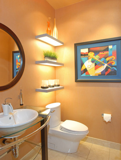 Eclectic Powder Room by Inside Story