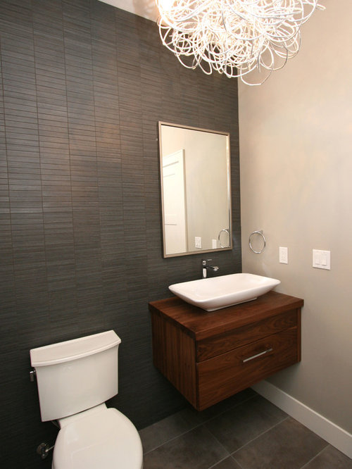 Floating Walnut Vanity Ideas, Pictures, Remodel and Decor