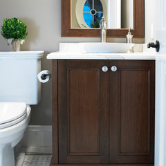 traditional powder room by Thomas Cochren Homes