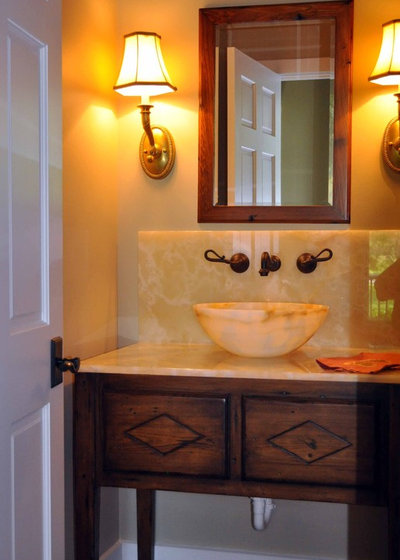 Traditional Powder Room by Frederick + Frederick Architects