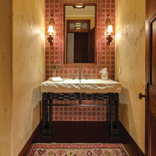 11 Best Mediterranean Yellow Powder Room Ideas & Decoration Pictures Russell Ross Designs Bathrooms Houzz on early 1900 bathroom design, pinterest bathroom design, rustic cottage bathroom design, trends bathroom design, simple small house design, bathroom interior design, fall bathroom design, fireplace with stone wall living room design, spa bathroom design, asian bathroom design, modern bathroom design, shaker style bathroom design, mediterranean bathroom design, retro bathroom design, small bathroom tile design, very small bathroom design, house beautiful bathroom design, shabby chic bathroom design, renovation bathroom design, joanna gaines bathroom design,