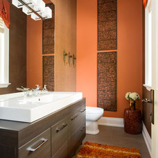 Transitional Powder Room by Lionsgate Design