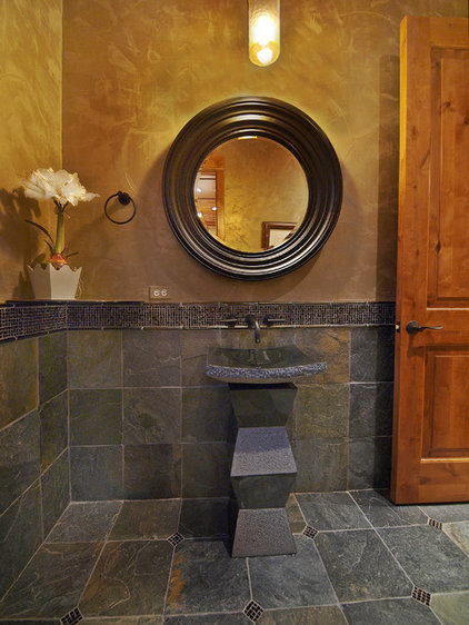 Contemporary Powder Room by Teri Fotheringham Photography