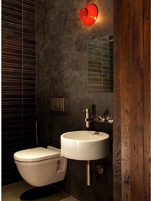 SaveEmail. Industrial Powder Room Design Ideas  Remodels   Photos with a Wall