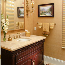 Traditional Powder Room by Weiss Design Group, Inc.