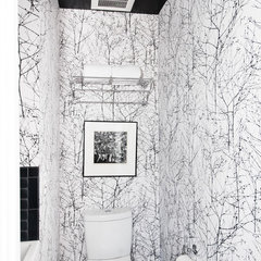 modern powder room by Regan Baker Design