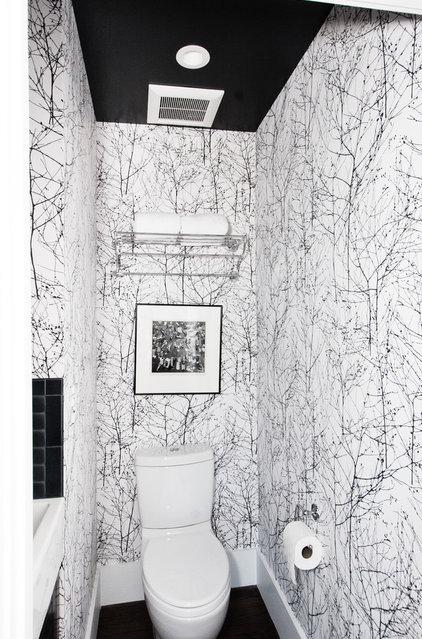 Midcentury Powder Room by Regan Baker Design