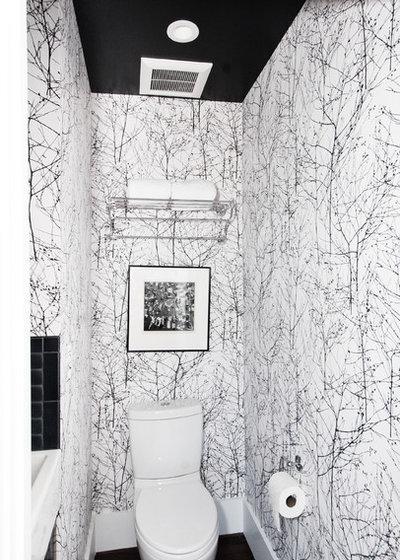 Contemporary Powder Room by Regan Baker Design Inc.
