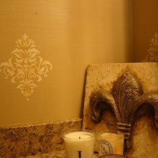 Traditional Powder Room by Sarah Harris Designs