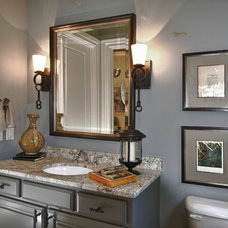 Traditional Powder Room by Visionary Mural Co.