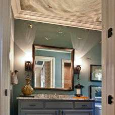 Eclectic Powder Room by Visionary Mural Co.