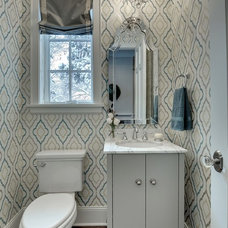Traditional Powder Room by Spacecrafting / Architectural Photography