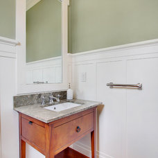 Traditional Powder Room by RW Anderson Homes