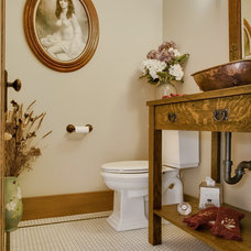 Craftsman Powder Room by Soundview Photography