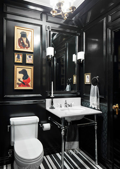 Traditional Powder Room by Donna Dotan Photography