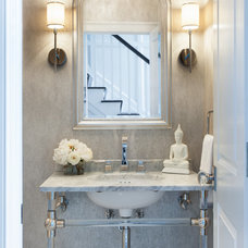 Transitional Powder Room by Tiffany Eastman Interiors, LLC