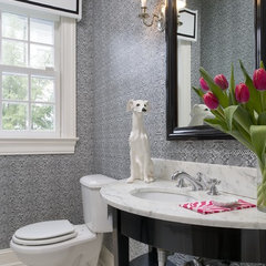 contemporary powder room by Tiffany Eastman Interiors, LLC
