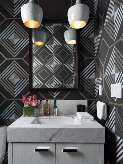 Contemporary Cloakroom by Jeff Schlarb Design