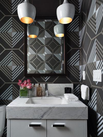 Contemporary Powder Room by Jeff Schlarb Design Studio