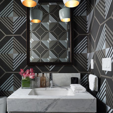 Contemporary Powder Room by Green Couch Interior Design