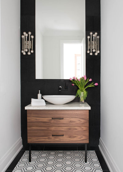 Awesome Contemporary Powder Room by Jodie Rosen Design