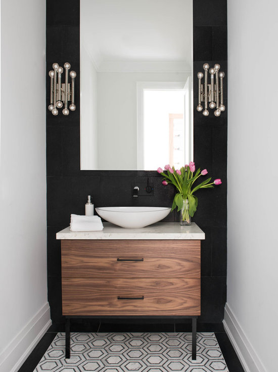 25 All Time Favorite Powder Room With Medium Tone Wood
