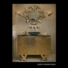 powder room by Ariam Interiors
