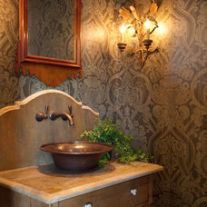 Farmhouse Powder Room by Allard Ward Architects