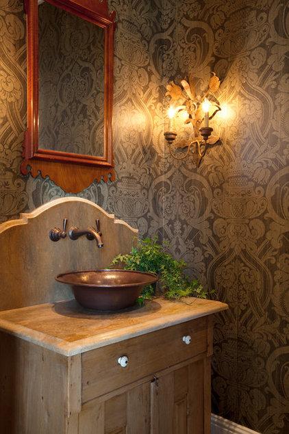Farmhouse Powder Room by Allard Ward Architects