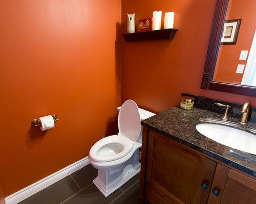 Photos et idées déco de WC et toilettes avec un sol en ardoise et un ...